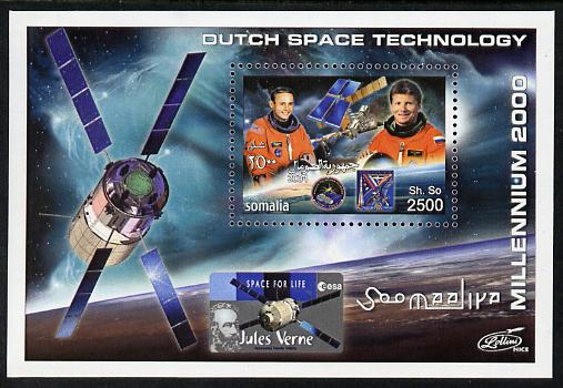 Somalia 2004 Dutch Space Technology #1 imperf m/sheet (with simulated perfs) unmounted mint. Note this item is privately produced and is offered purely on its thematic appeal