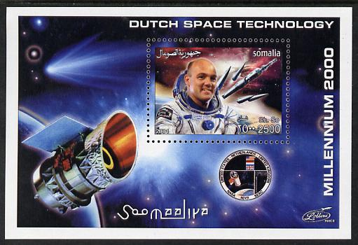Somalia 2004 Dutch Space Technology #2 imperf m/sheet (with simulated perfs) unmounted mint. Note this item is privately produced and is offered purely on its thematic appeal
