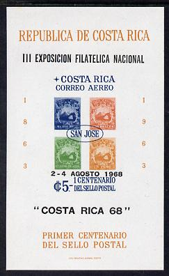 Costa Rica 1968 National Philatelic Exhibition imperf m/sheet unmounted mint, SG MS 804
