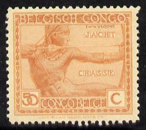 Belgian Congo 1923 Archer 50c red-orange unmounted mint SG 128
