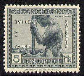Belgian Congo 1923 Palm Oil 5f slate unmounted mint SG 139