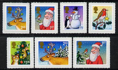 Great Britain 2012 Christmas self-adhesive set of 7 unmounted mint
