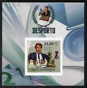 Mozambique 2010 Chess Players - Bobby Fischer imperf m/sheet unmounted mint. Note this item is privately produced and is offered purely on its thematic appeal