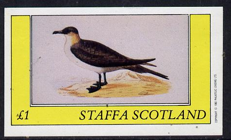 Staffa 1982 Birds #07 (Sea Gull) imperf souvenir sheet (�1 value) unmounted mint