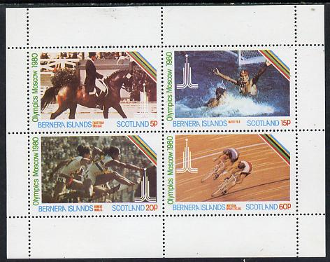 Bernera 1980 Olympic Games perf  set of 4 values (5p to 60p) unmounted mint