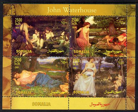 Somalia 2004 Paintings by John Waterhouse perf sheetlet containing 4 values unmounted mint. Note this item is privately produced and is offered purely on its thematic appeal