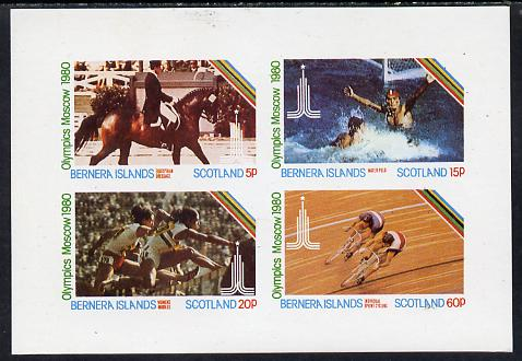 Bernera 1980 Olympic Games imperf  set of 4 values (5p to 60p) unmounted mint