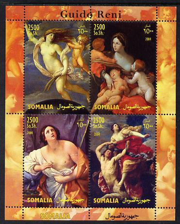 Somalia 2004 Paintings by Guido Reni perf sheetlet containing 4 values unmounted mint. Note this item is privately produced and is offered purely on its thematic appeal