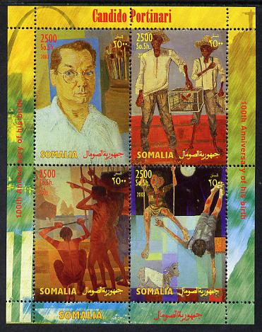 Somalia 2004 Paintings by Candido Portinari perf sheetlet containing 4 values unmounted mint. Note this item is privately produced and is offered purely on its thematic appeal