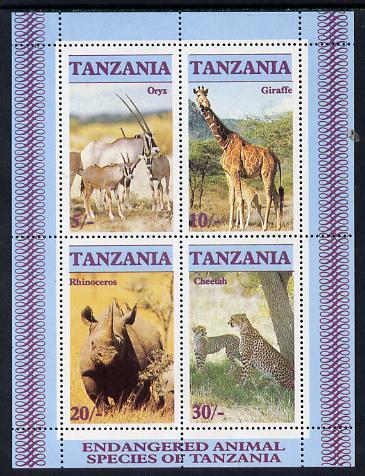 Tanzania 1986 Endangered Animals m/sheet unmounted mint SG MS 483