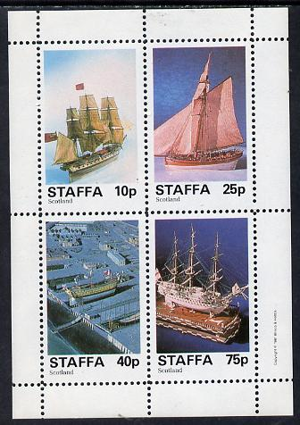 Staffa 1981 Model Ships perf  set of 4 values (10p to 75p) unmounted mint