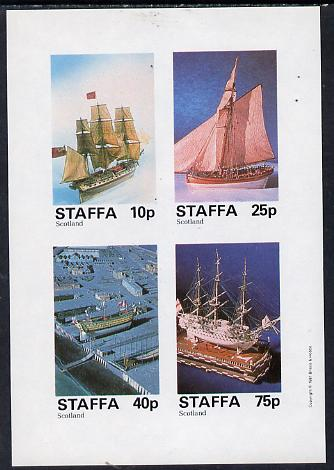 Staffa 1981 Model Ships imperf  set of 4 values (10p to 75p) unmounted mint, stamps on ships    crafts