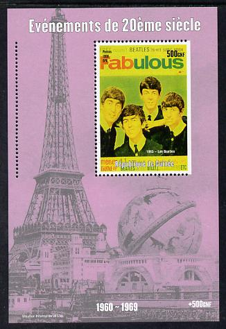 Guinea - Conakry 1998 Events of the 20th Century 1960-1969 The Beatles souvenir sheet perf on 3 sides only unmounted mint