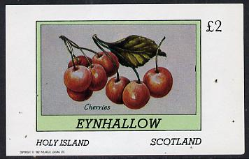 Eynhallow 1982 Fruit (Cherries) imperf deluxe sheet (�2 value) unmounted mint
