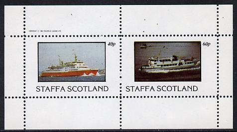 Staffa 1982 Ships #2 (Ferries) perf  set of 2 values (40p & 60p) unmounted mint