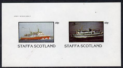 Staffa 1982 Ships #2 (Ferries) imperf  set of 2 values (40p & 60p) unmounted mint