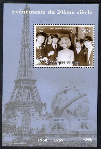 Niger Republic 1998 Events of the 20th Century 1960-1969 The Beatles & Sylvie Vartan perf souvenir sheet unmounted mint. Note this item is privately produced and is offered purely on its thematic appeal