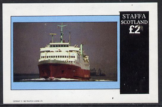 Staffa 1982 Ships #2 (Ferry) imperf deluxe sheet (�2 value) unmounted mint