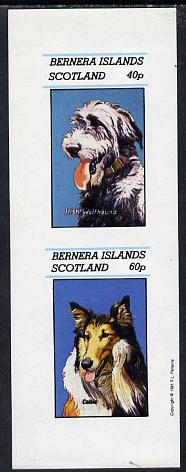 Bernera 1981 Dogs (Irish Wolfhound & Collie) imperf  set of 2 values (40p & 60p) unmounted mint