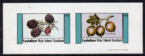 Eynhallow 1981 Fruit (Blackberry & Gooseberry) imperf  set of 2 values (40p & 60p) unmounted mint