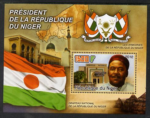 Niger Republic 2012 President Mahamadou Issoufou imperf m/sheet containing 1500F value unmounted mint