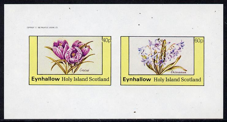 Eynhallow 1982 Flowers #06 (Crocus & Chionodoxa) imperf  set of 2 values (40p & 60p) unmounted mint