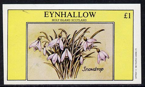 Eynhallow 1982 Flowers #06 (Snowdrop) imperf souvenir sheet (�1 value) unmounted mint