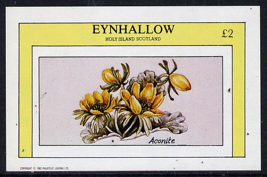 Eynhallow 1982 Flowers #06 (Aconite) imperf deluxe sheet (�2 value) unmounted mint