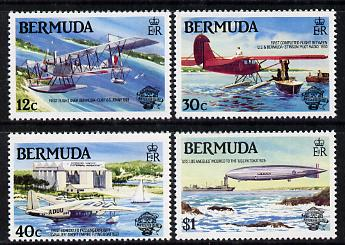 Bermuda 1983 Bicentenary of Manned Flight set of 4 unmounted mint, SG 465-68