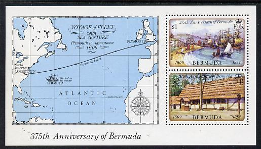 Bermuda 1984 375th Anniversary of First Settlement perf m/sheet unmounted mint, SG MS 477