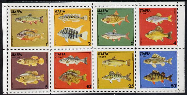 Staffa 1978 Fish #03 (Perch, Carp, Rudd, Roach etc) perf  set of 8 values (1p to 50p) unmounted mint