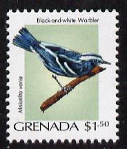 Grenada 2000 Birds $1.50 Black & White Warbler unmounted mint, SG 4289