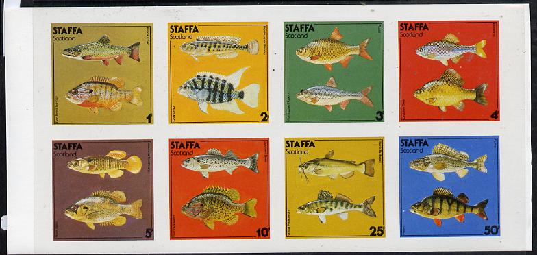 Staffa 1978 Fish #03 (Perch, Carp, Rudd, Roach etc) imperf  set of 8 values (1p to 50p) unmounted mint