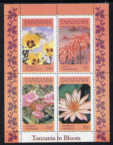 Tanzania 1986 Flowers  m/sheet unmounted mint SG MS 478