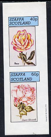 Staffa 1981 Roses #2 (Peace & Queen Elizabeth) imperf  set of 2 values (40p & 60p) unmounted mint