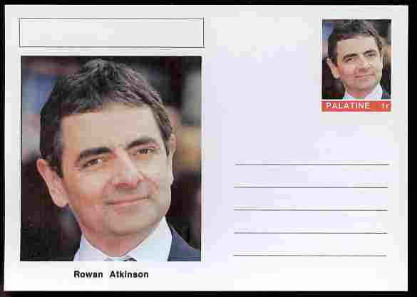 Palatine (Fantasy) Personalities - Rowan Atkinson (comic actor) postal stationery card unused and fine