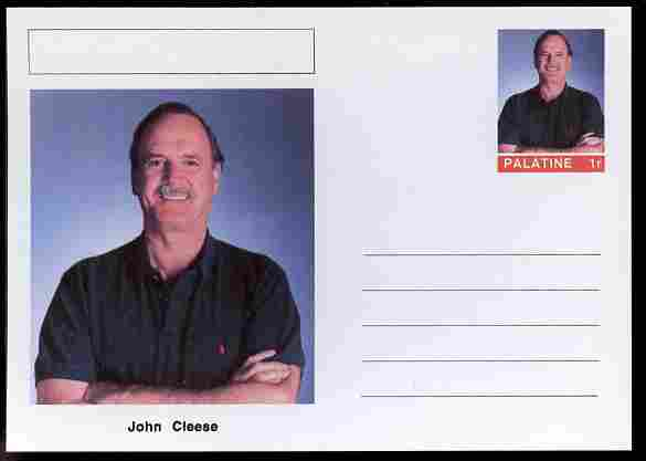 Palatine (Fantasy) Personalities - John Cleese (comic actor) postal stationery card unused and fine