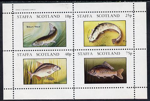 Staffa 1982 Fish #09 (Trout, Bream, etc) perf  set of 4 values (10p to 75p) unmounted mint