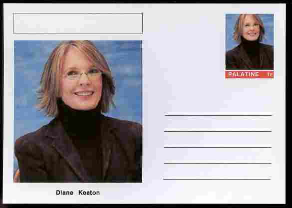 Palatine (Fantasy) Personalities - Diane Keaton (actress) postal stationery card unused and fine