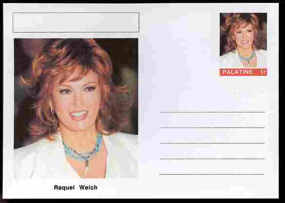Palatine (Fantasy) Personalities - Raquel Welch (actress) postal stationery card unused and fine