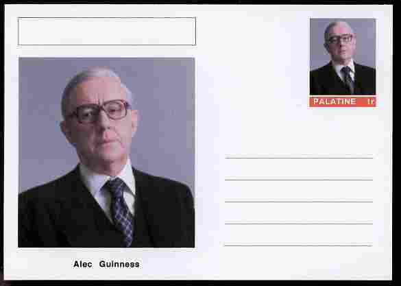 Palatine (Fantasy) Personalities - Alec Guinness (actor) postal stationery card unused and fine