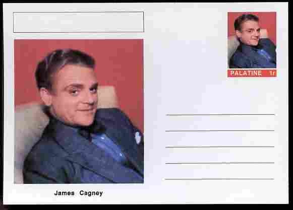 Palatine (Fantasy) Personalities - James Cagney (actor) postal stationery card unused and fine