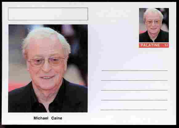 Palatine (Fantasy) Personalities - Michael Caine (actor) postal stationery card unused and fine