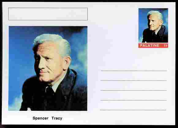 Palatine (Fantasy) Personalities - Spencer Tracy (actor) postal stationery card unused and fine