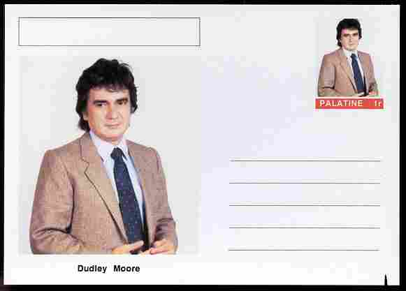 Palatine (Fantasy) Personalities - Dudley Moore (comic actor) postal stationery card unused and fine