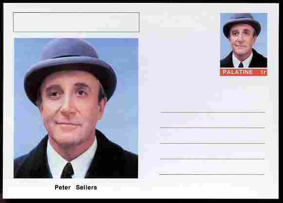 Palatine (Fantasy) Personalities - Peter Sellers (comic actor) postal stationery card unused and fine
