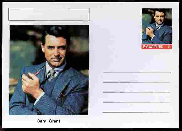 Palatine (Fantasy) Personalities - Cary Grant (actor) postal stationery card unused and fine