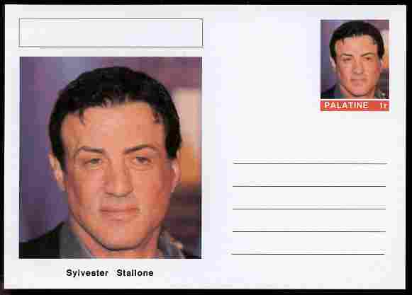 Palatine (Fantasy) Personalities - Sylvester Stallone (actor) postal stationery card unused and fine