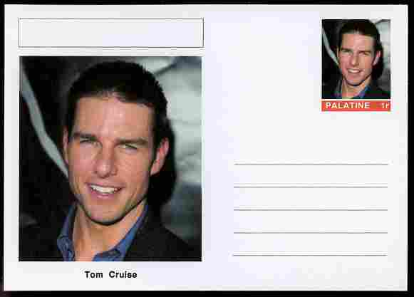 Palatine (Fantasy) Personalities - Tom Cruise (actor) postal stationery card unused and fine