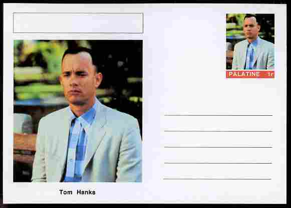 Palatine (Fantasy) Personalities - Tom Hanks (comic actor) postal stationery card unused and fine